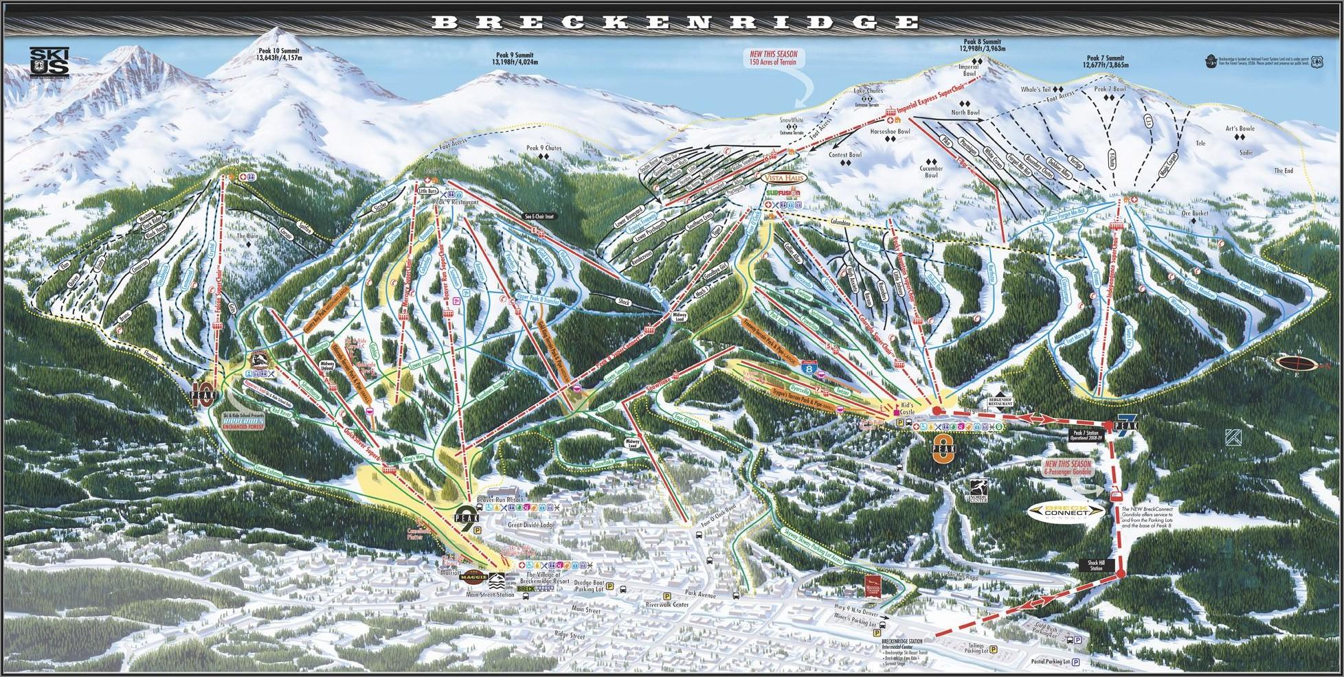 Breckenridge Co Ski Map