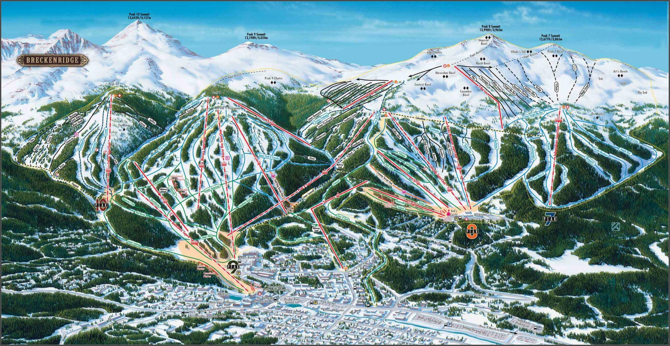 Breckenridge Colorado Ski Map