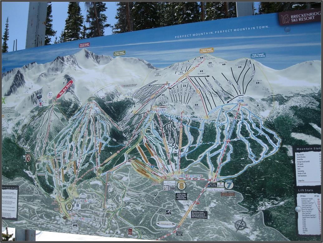 Breckenridge Ski Resort Map