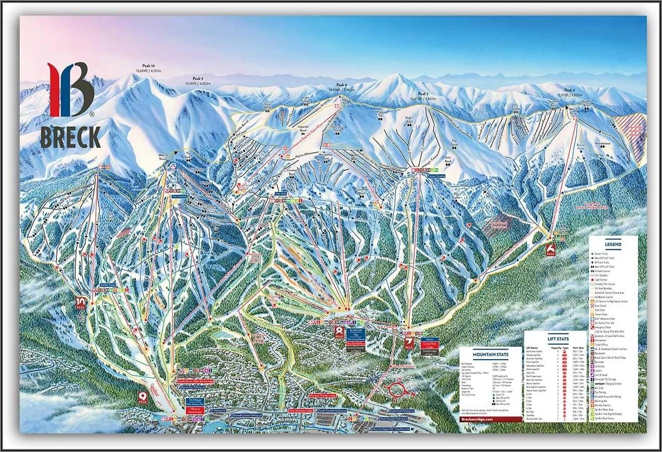 Breckenridge Ski Slope Map