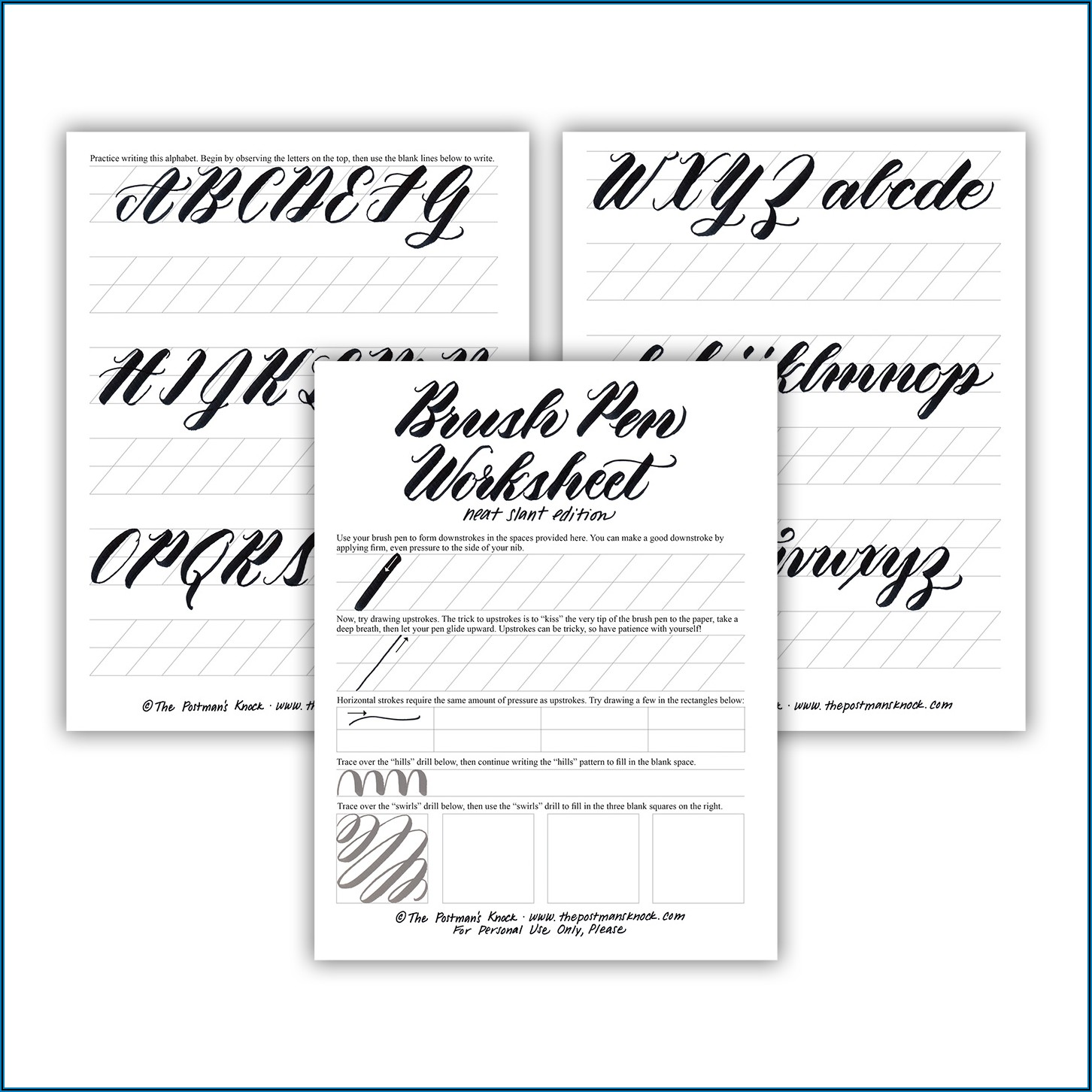 Brush Pen Calligraphy Practice Sheets Pdf Free