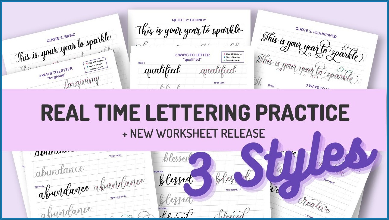 Brush Pen Calligraphy Practice Sheets Printable