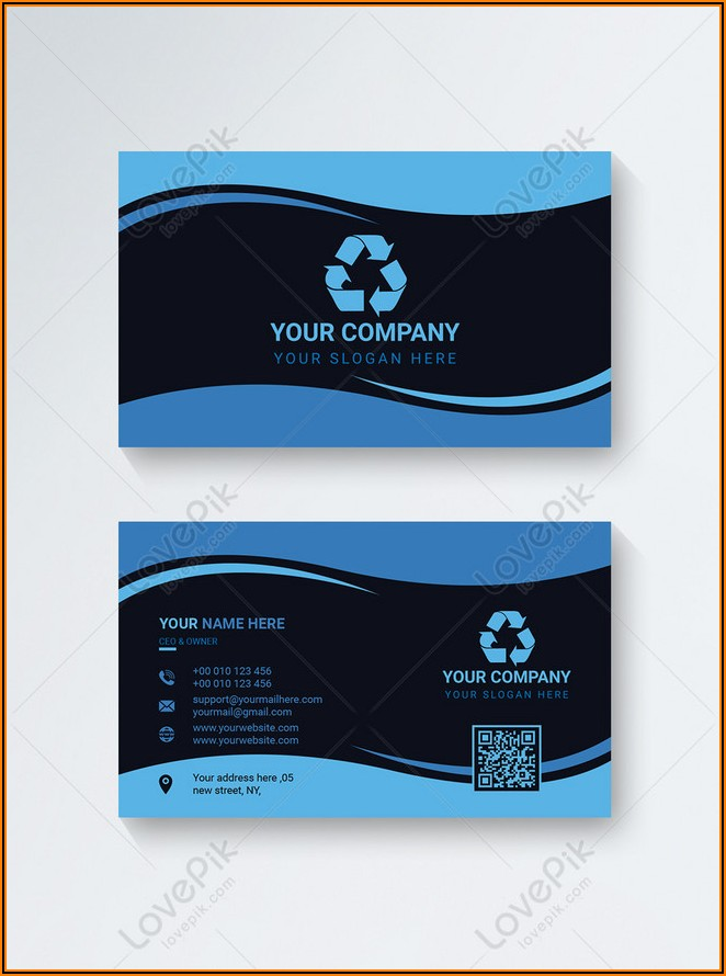 Business Card Design Template Vector Free Download