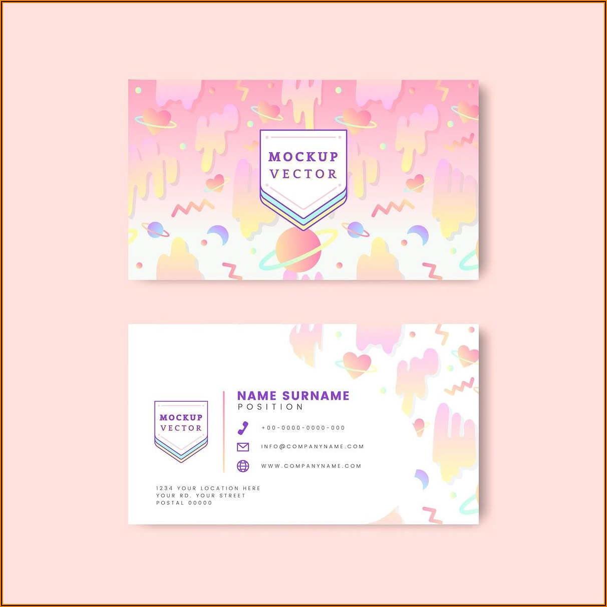 Business Card Mockup Vector Free Download