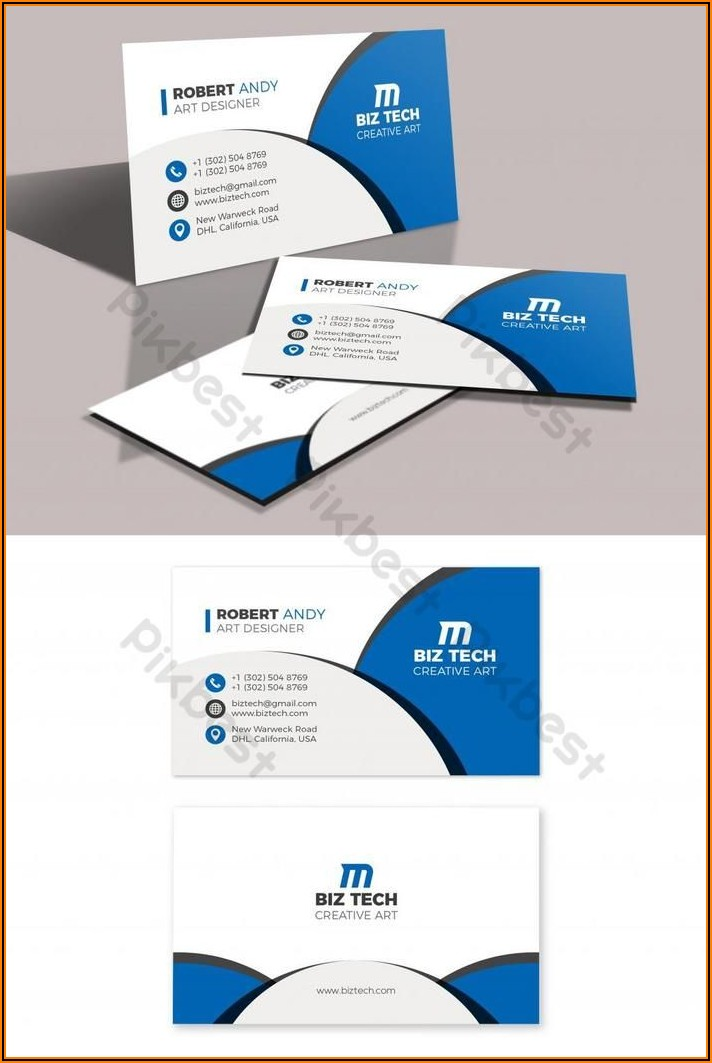 Business Card Vector Free Download Ai