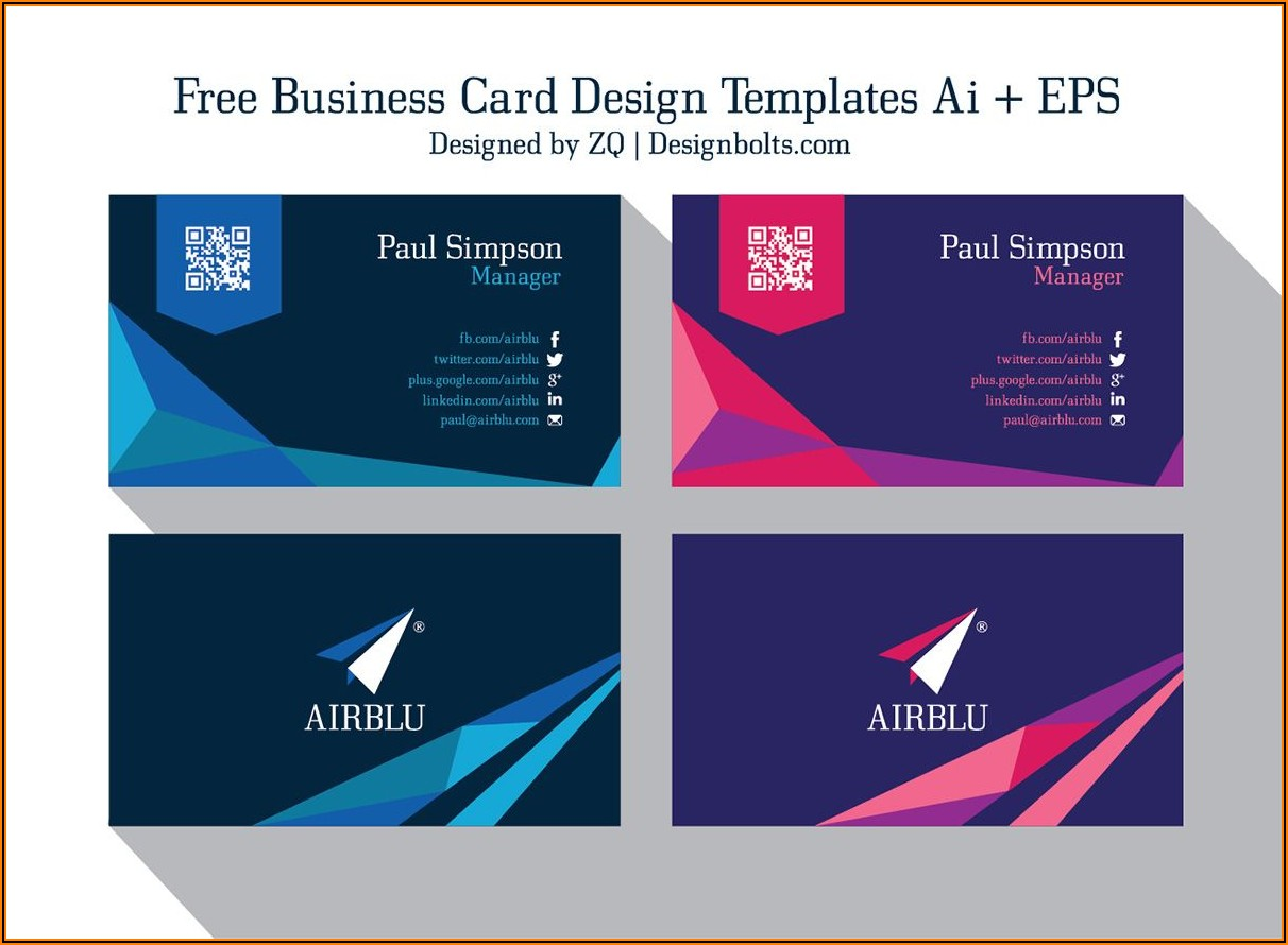 Business Card Vector Free Templates