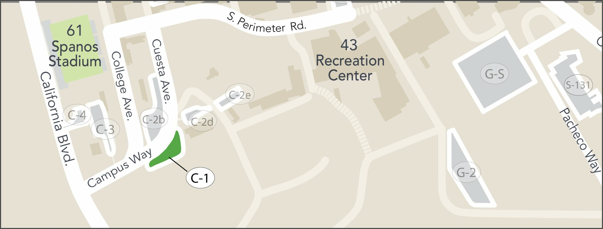 Cal Poly Pomona Map Building Numbers