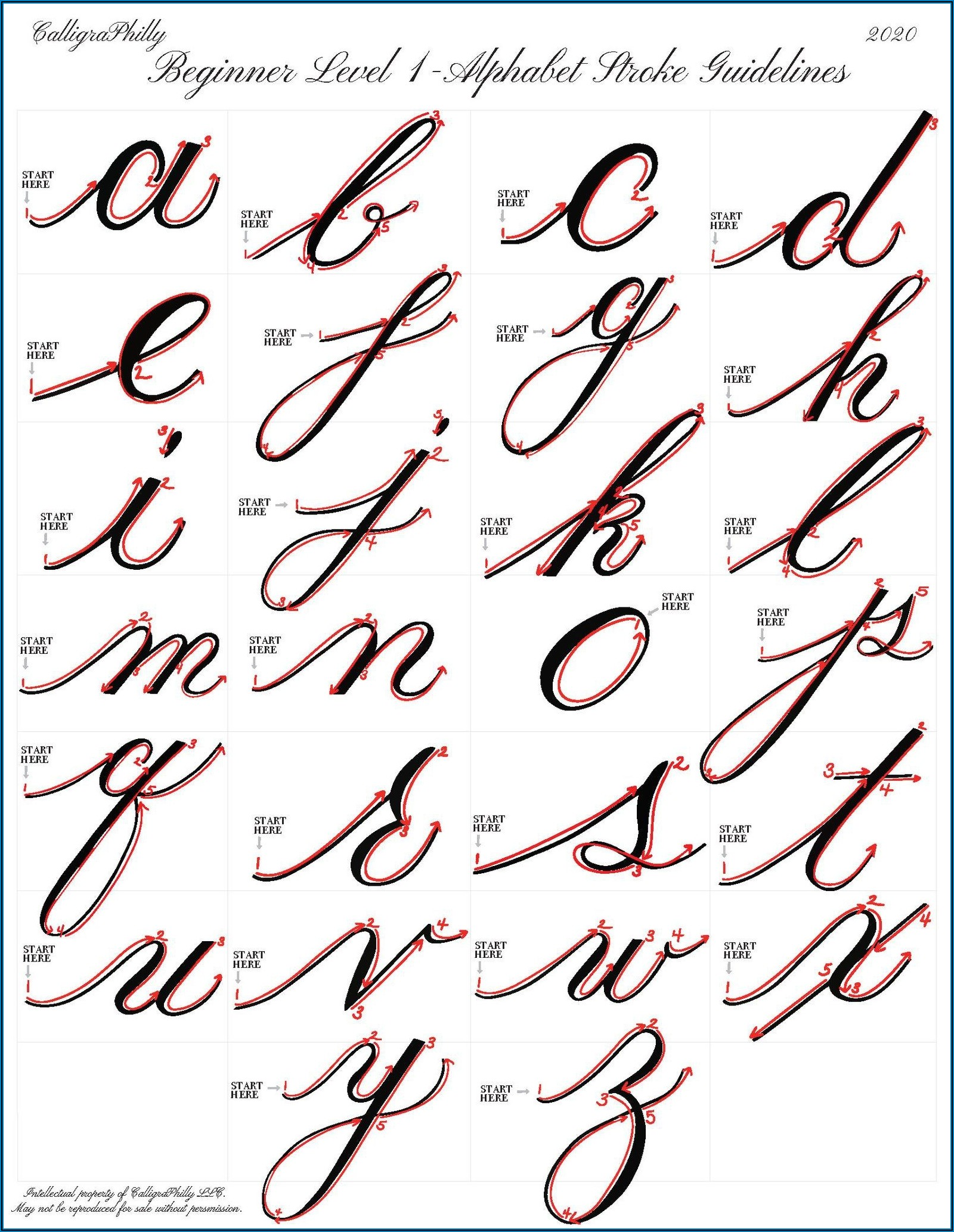 Calligraphy Practice Sheet Free Printable