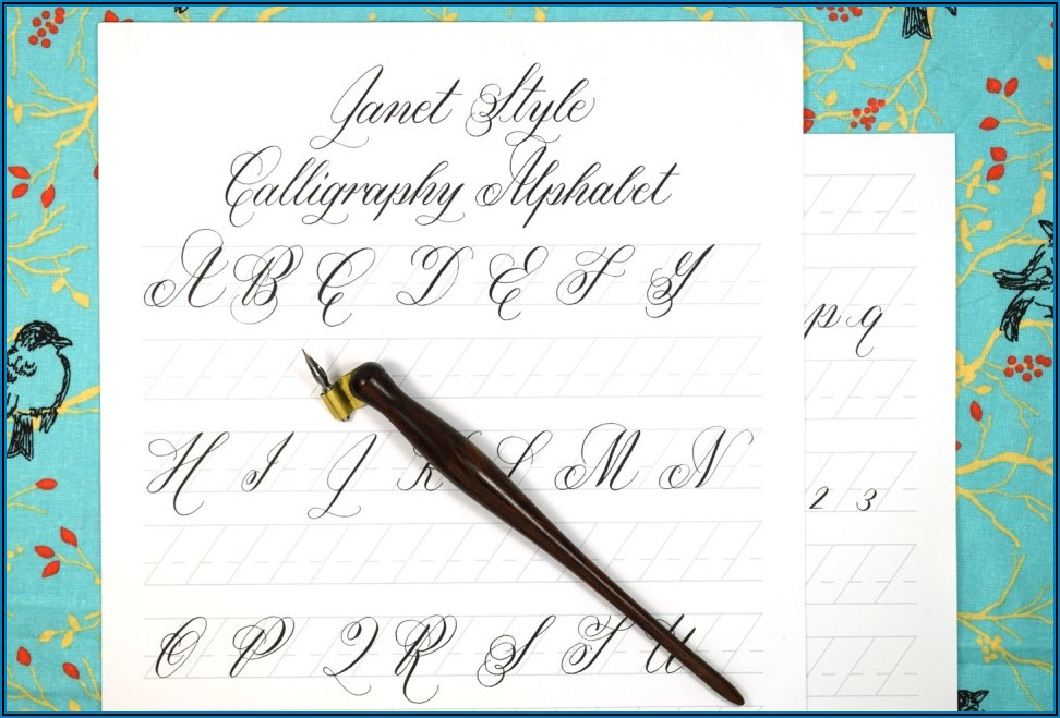 Calligraphy Practice Sheets Free Printable
