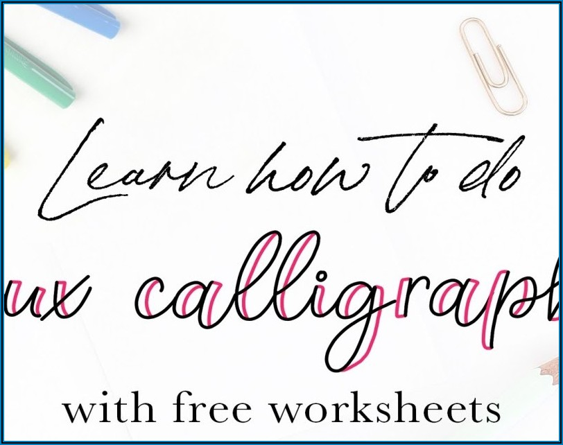 Calligraphy Practice Sheets Pdf Free