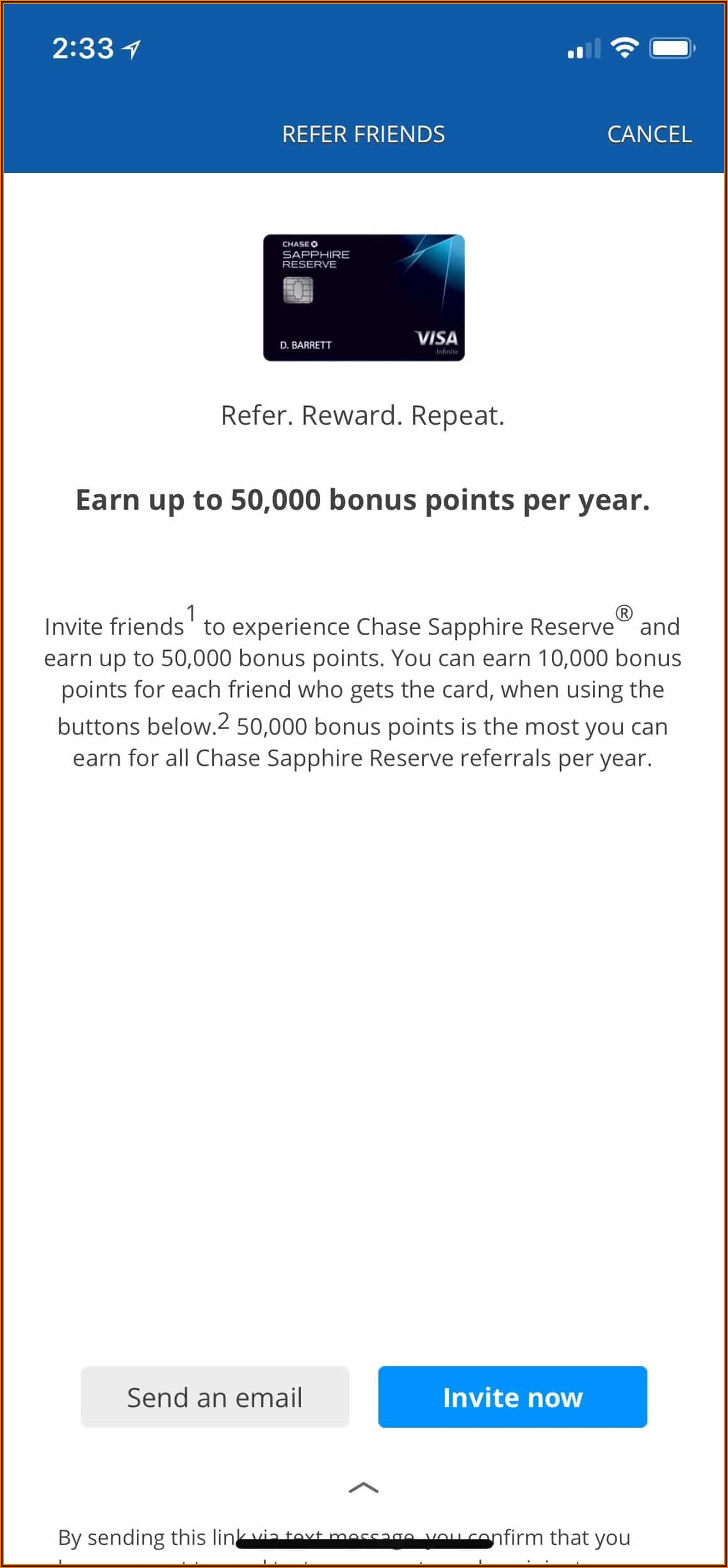 Chase United Business Card Referral