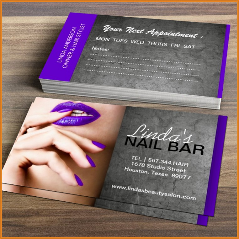 Cheap Nail Tech Business Cards