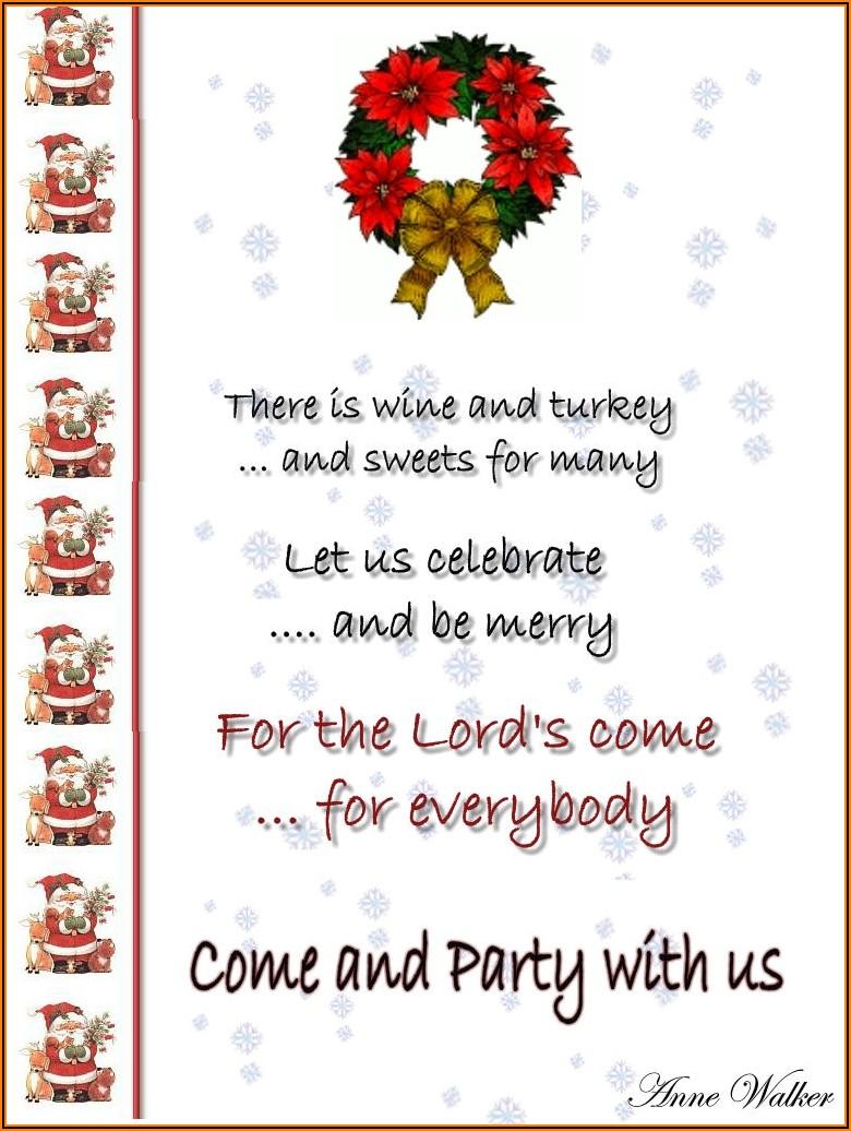 Christmas Dinner Invite Wording