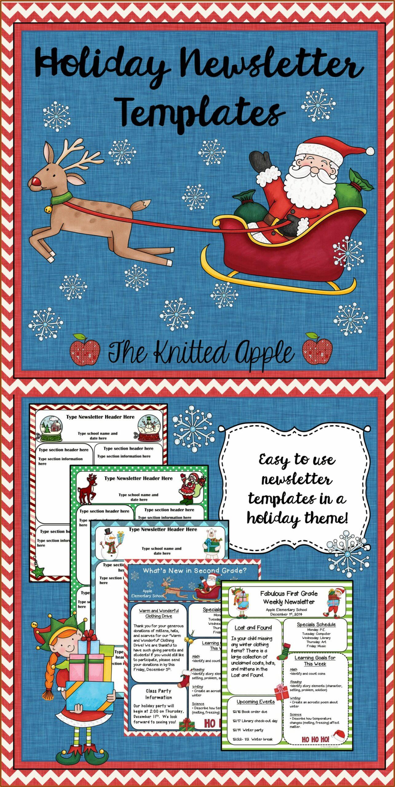 Christmas Newsletter Template Microsoft Word