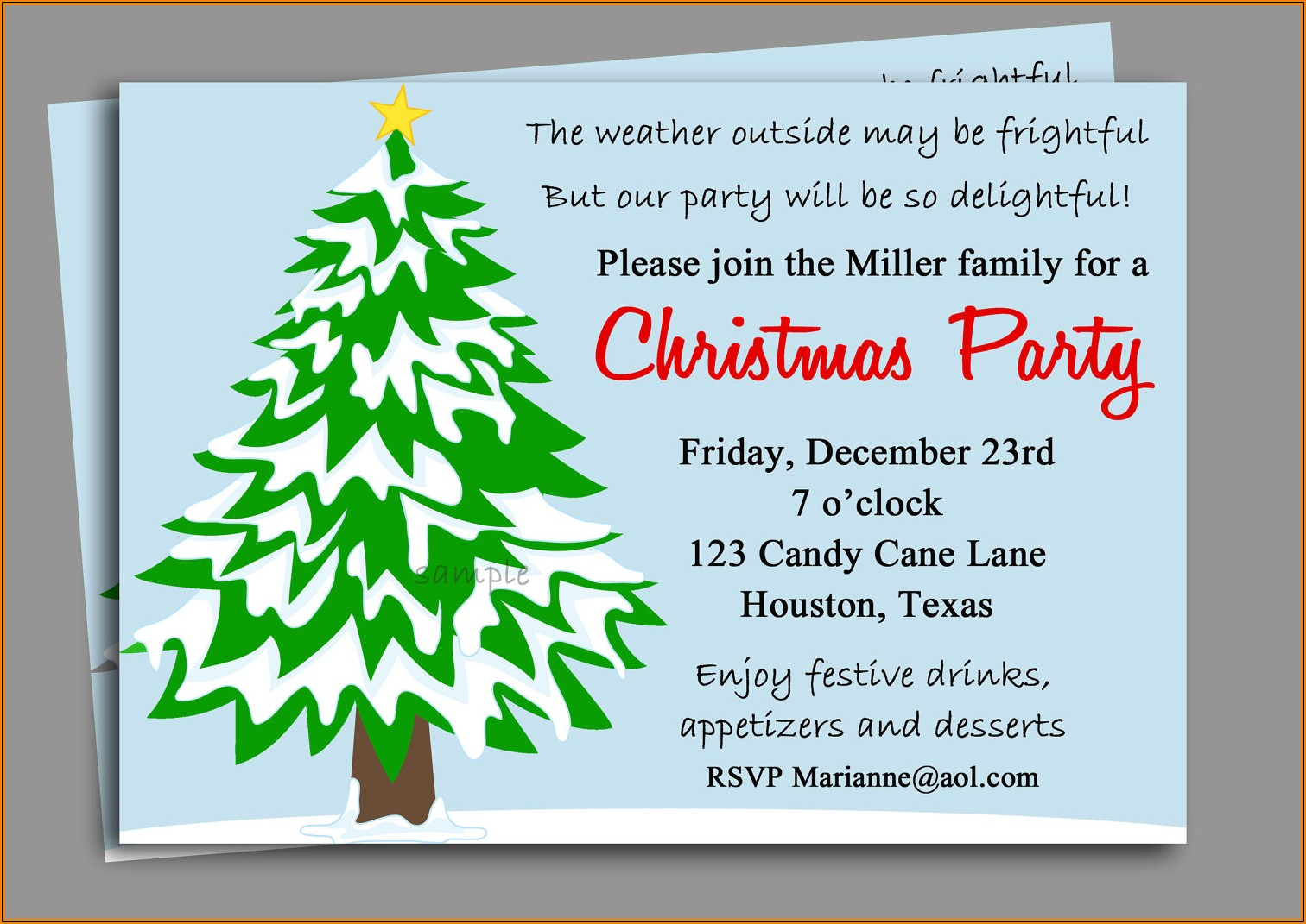 Company Christmas Dinner Invitation Wording