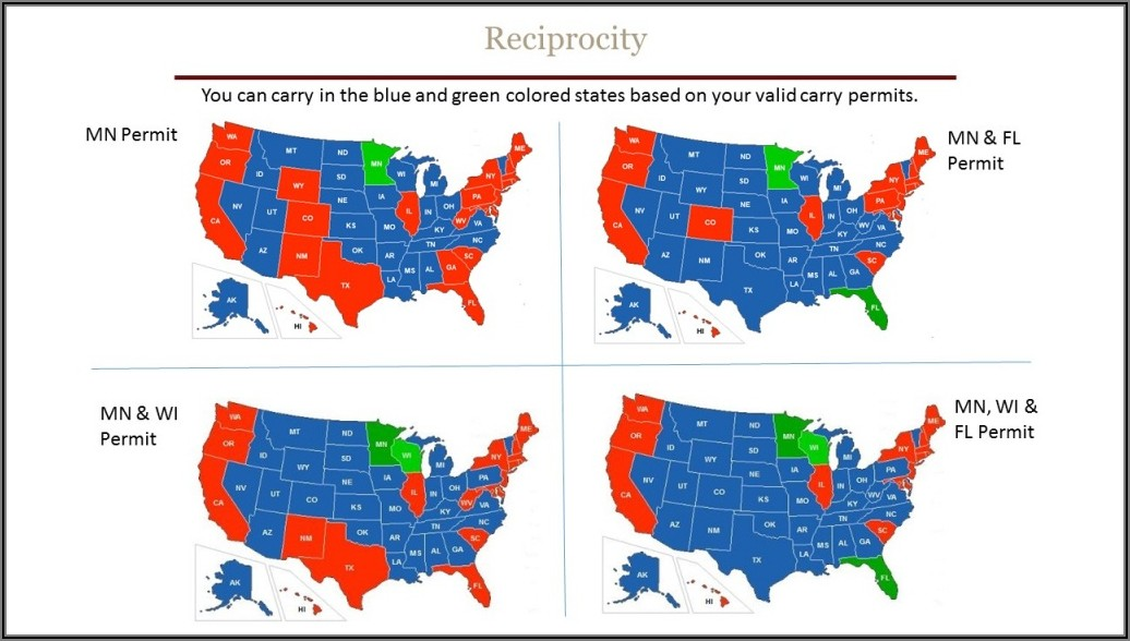 Concealed Carry Reciprocity Map Florida