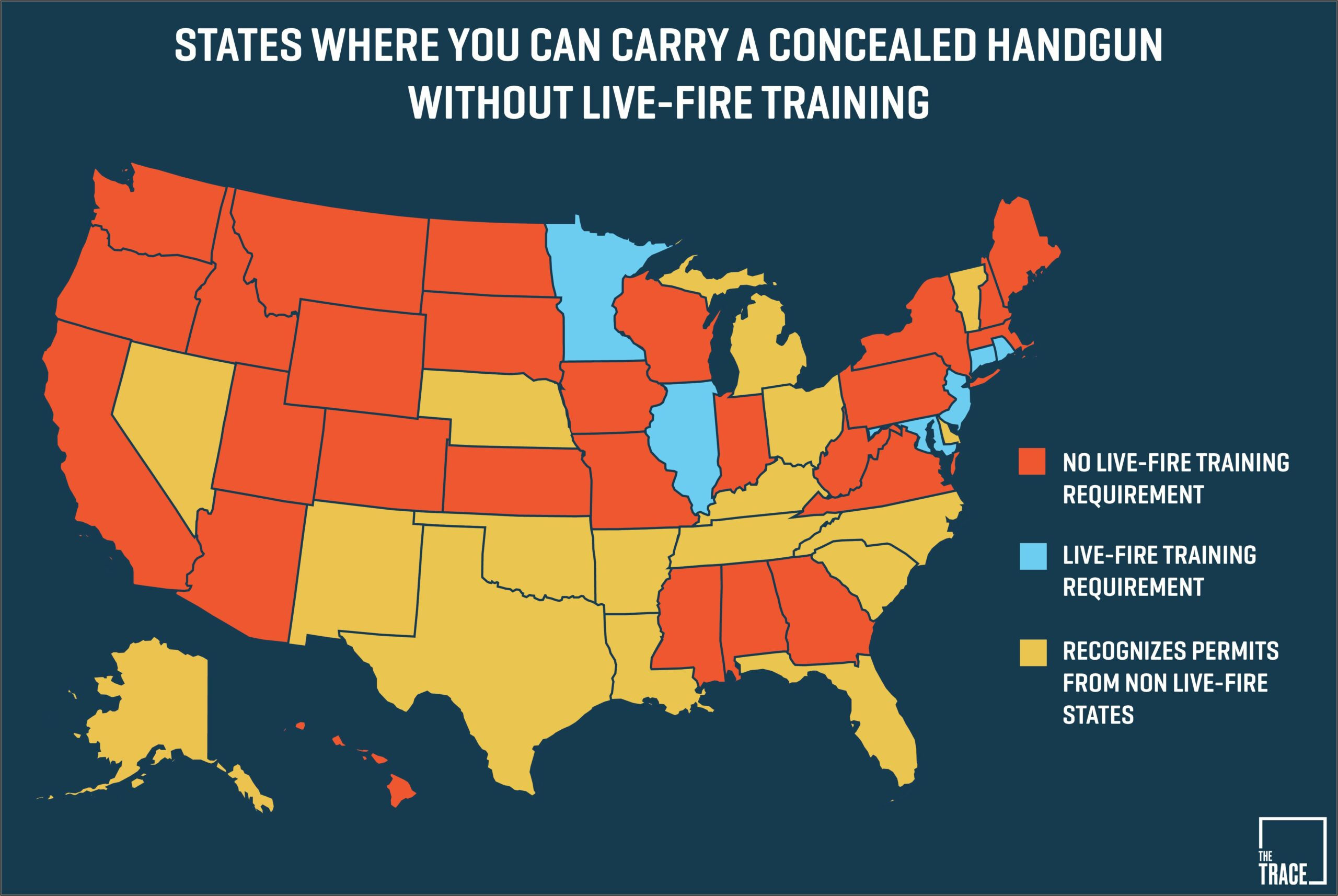 Concealed Carry Reciprocity Map Nra