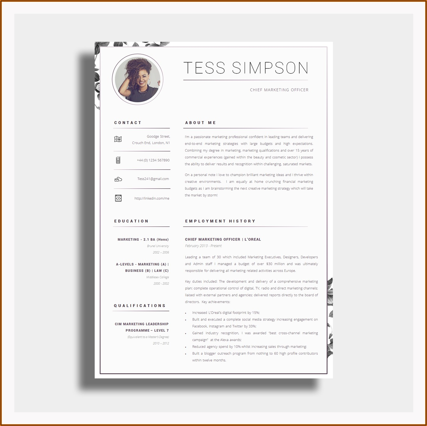 Cool Resume Templates For Word Free