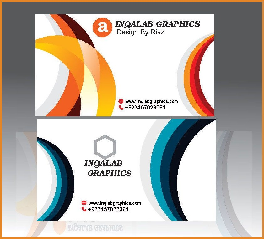 Coreldraw Business Card Template Free Vector Download
