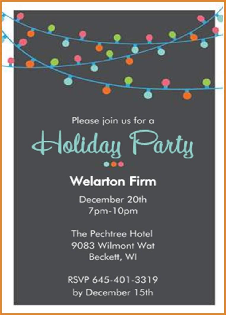 Corporate Christmas Dinner Invitation Template