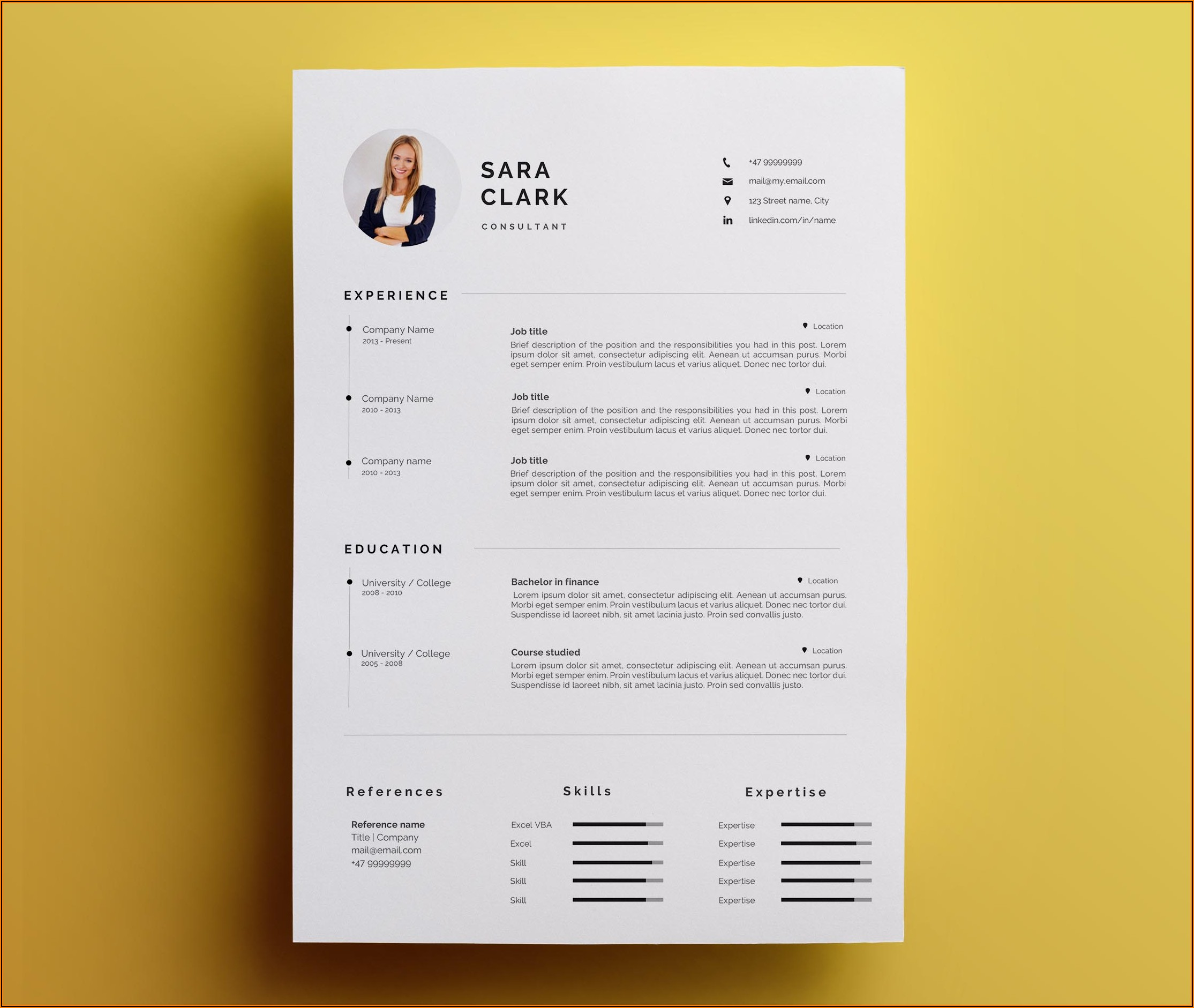 Cover Letter For Resume Template Microsoft Word