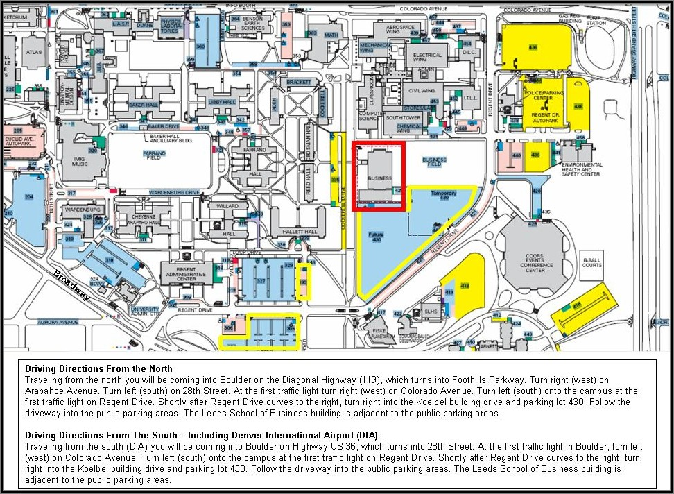 Cu Boulder Campus Map Parking
