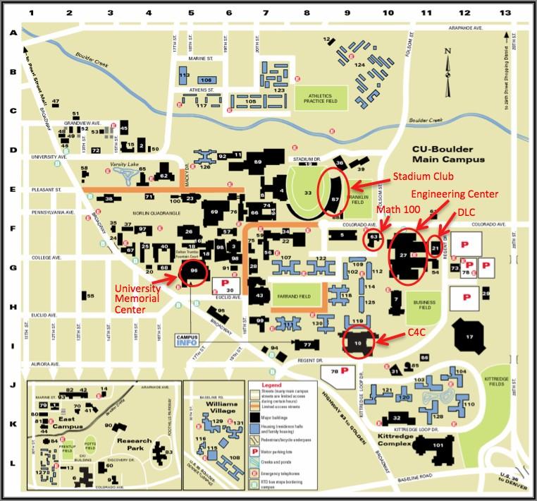 Cu Boulder Engineering Center Map