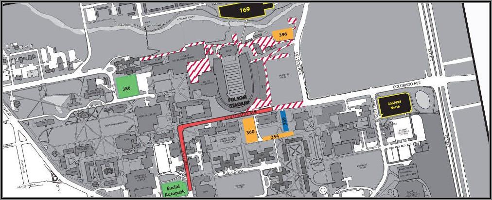 Cu Boulder Football Parking Map