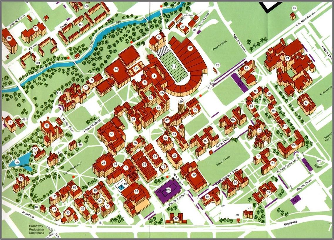 Cu Boulder Main Campus Map