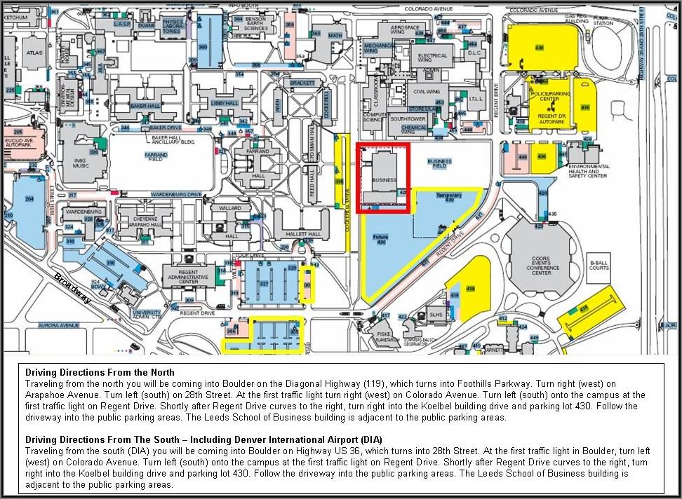Cu Boulder Visitor Parking Map