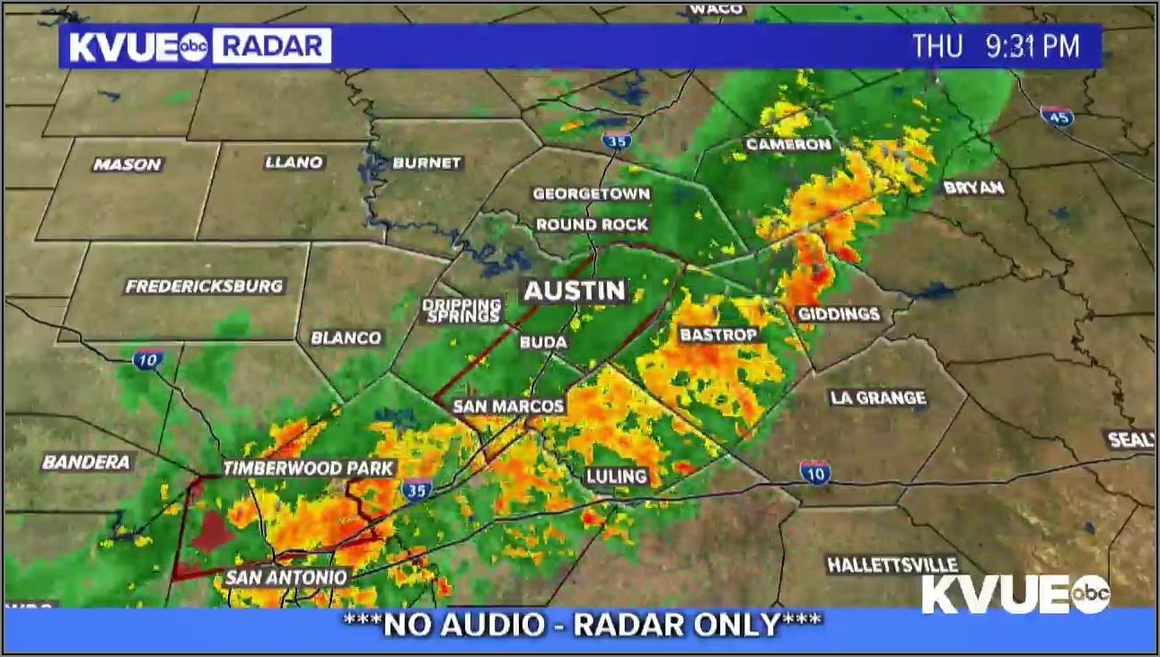 Dallas Texas Weather Radar Map