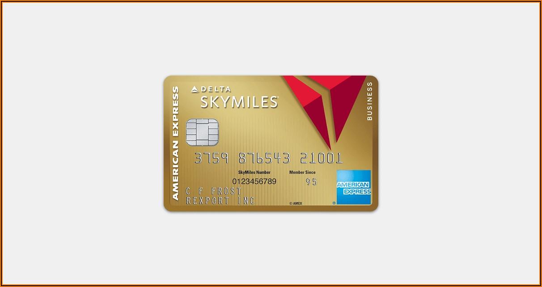 Delta Skymiles Business Card