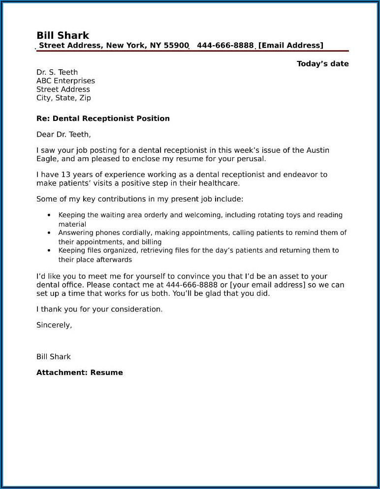 Dental Assistant Instructor Cover Letter Sample