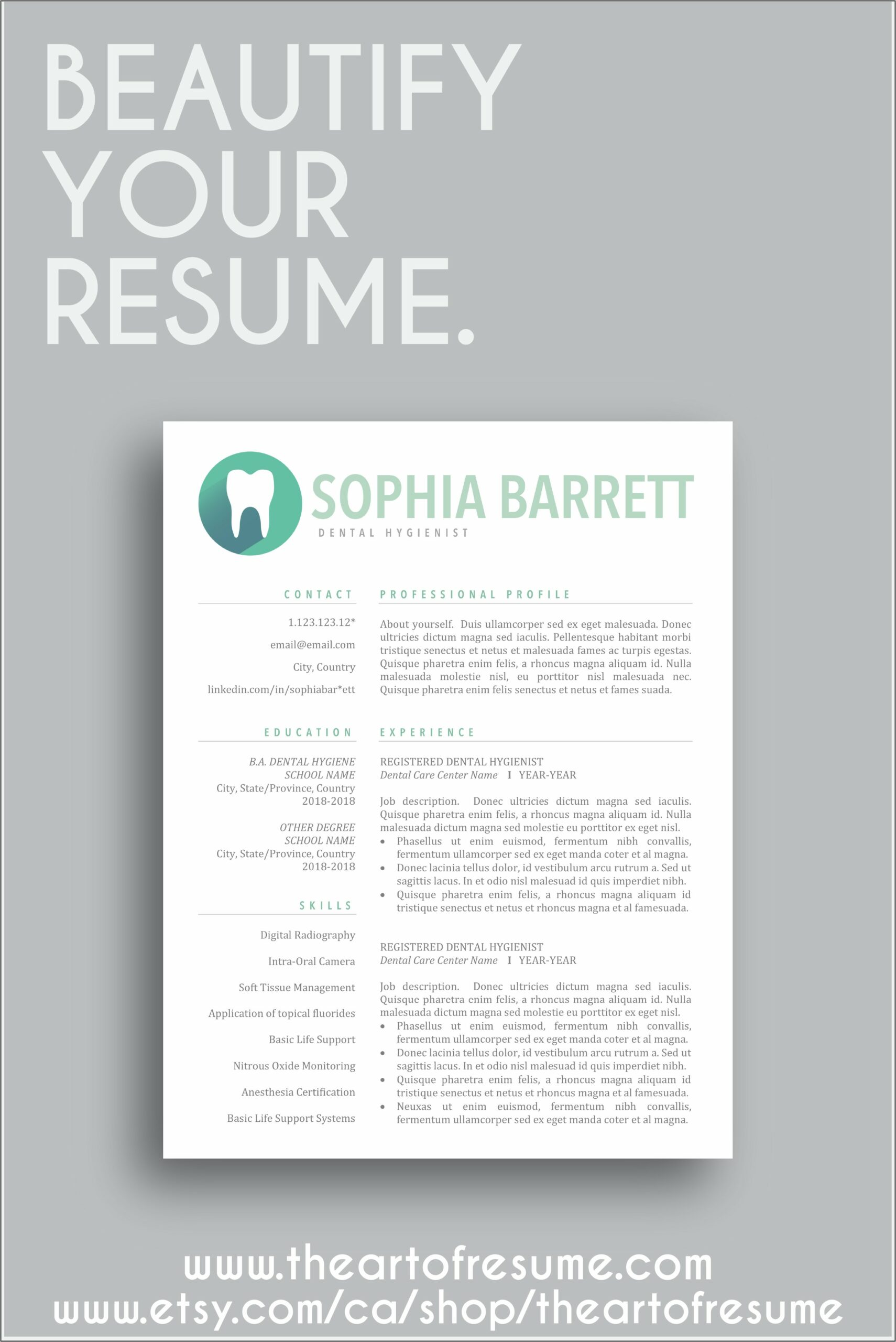 Dental Assistant Resume Template Word
