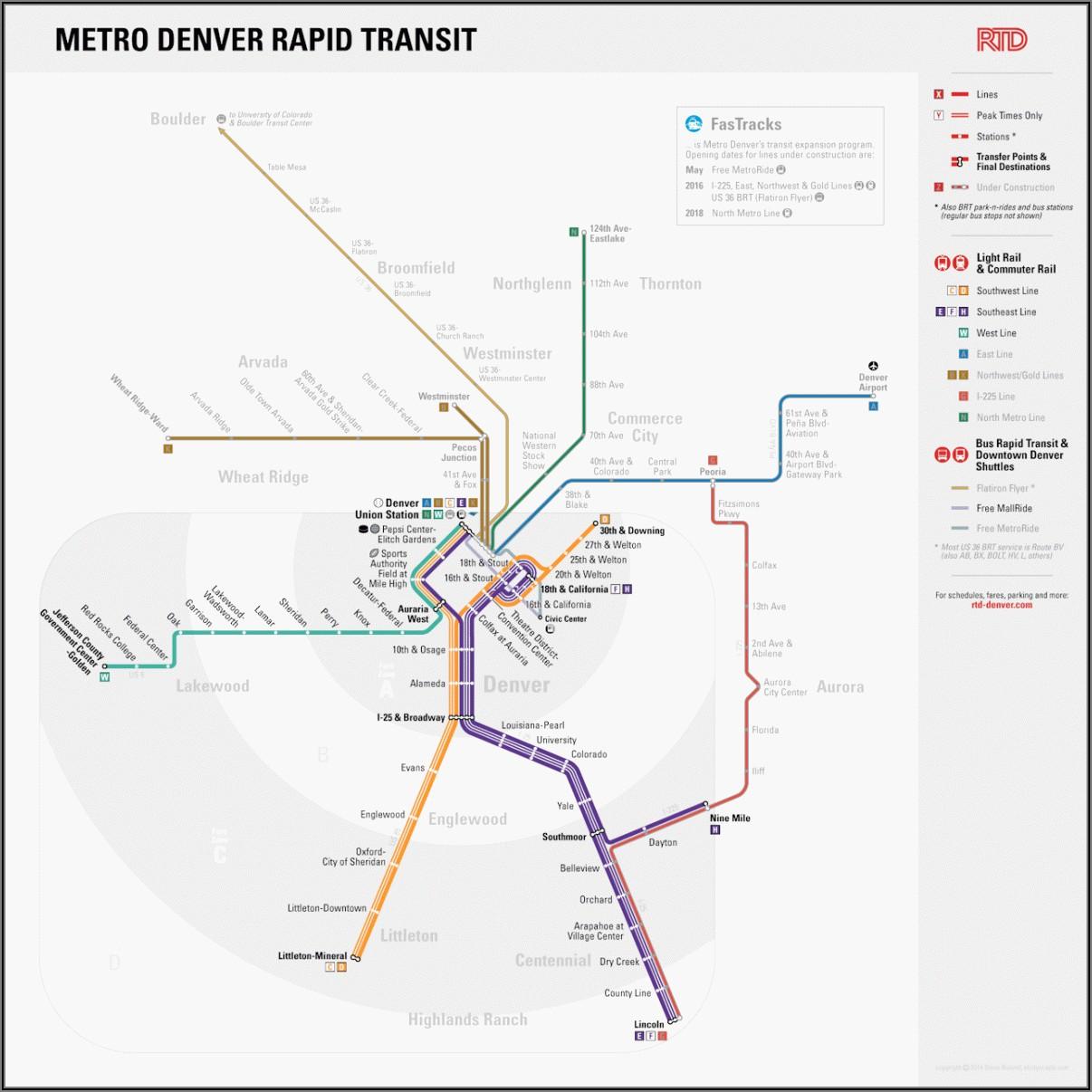 Denver Rtd Train Map