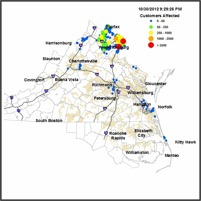 Dominion Outage Map Charlottesville