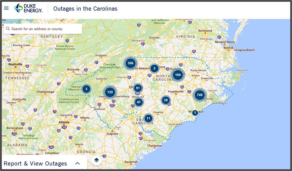 Duke Energy Power Outage Map Charlotte Nc