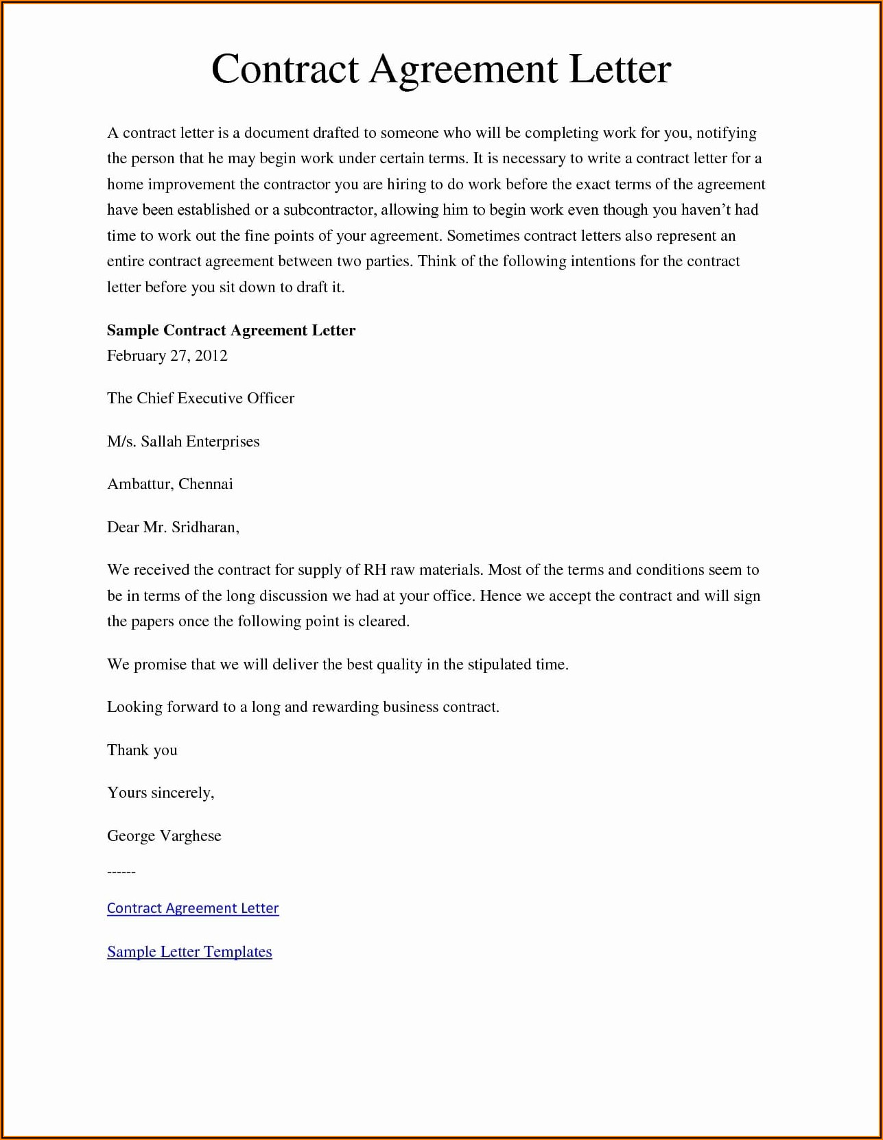 Employment Contract Example Australia