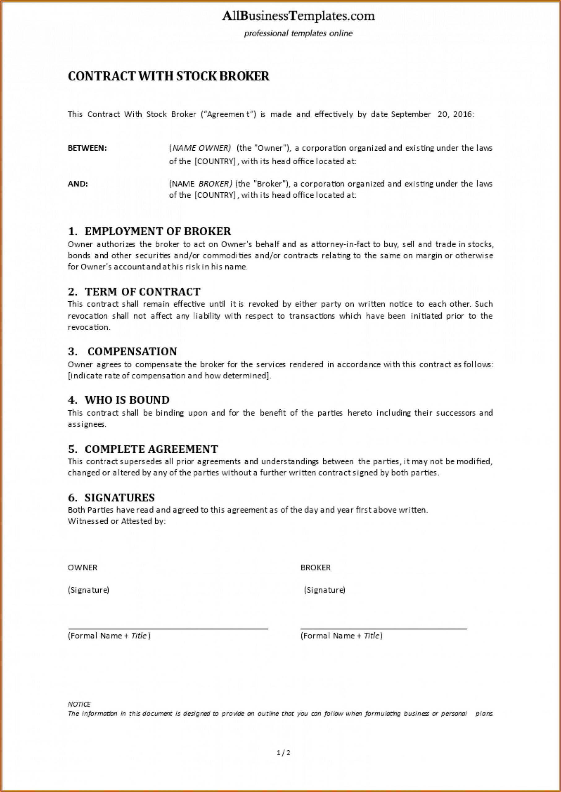 Employment Contract Template Word Egypt
