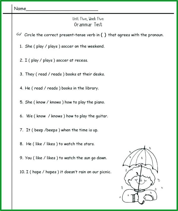 English Grammar Worksheets Grade 7 Free