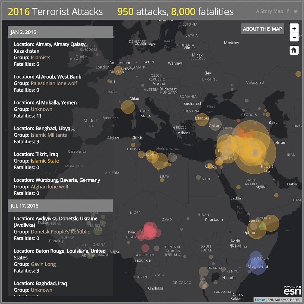 Esri Story Maps Terrorist