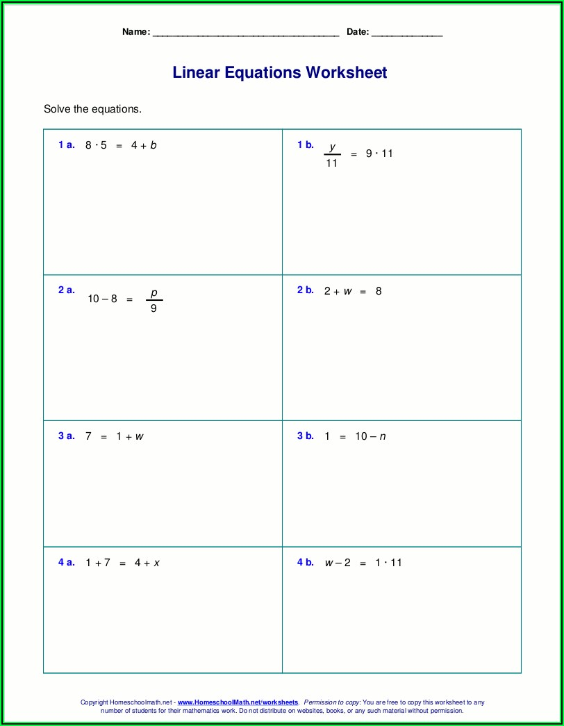 Evaluating Algebraic Expressions Worksheet Grade 7 Pdf