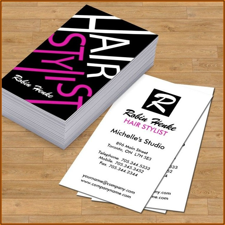 Examples Of Hair Salon Business Cards