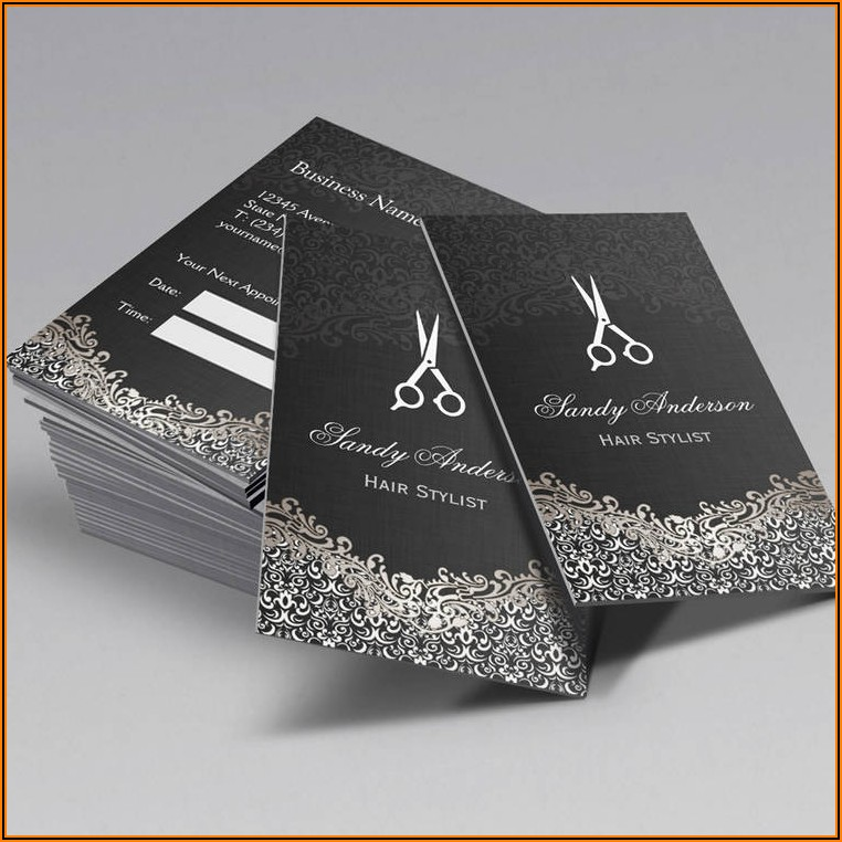 Examples Of Hair Stylist Business Cards