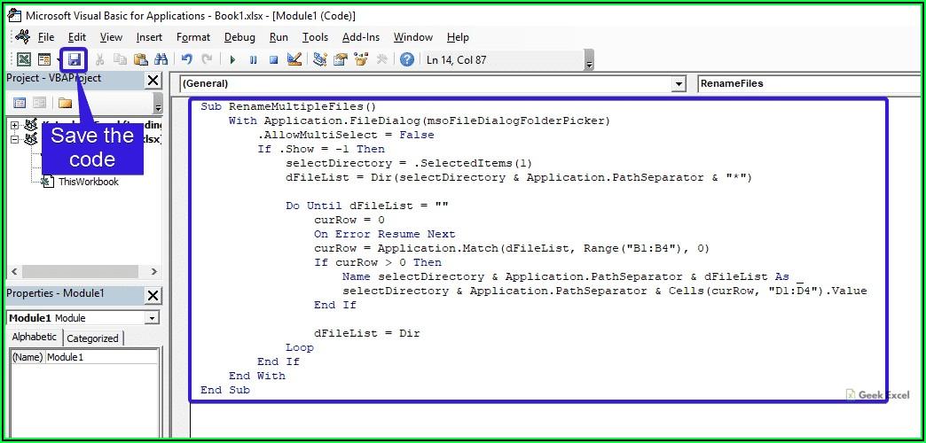 Excel Vba Rename File Without Saving