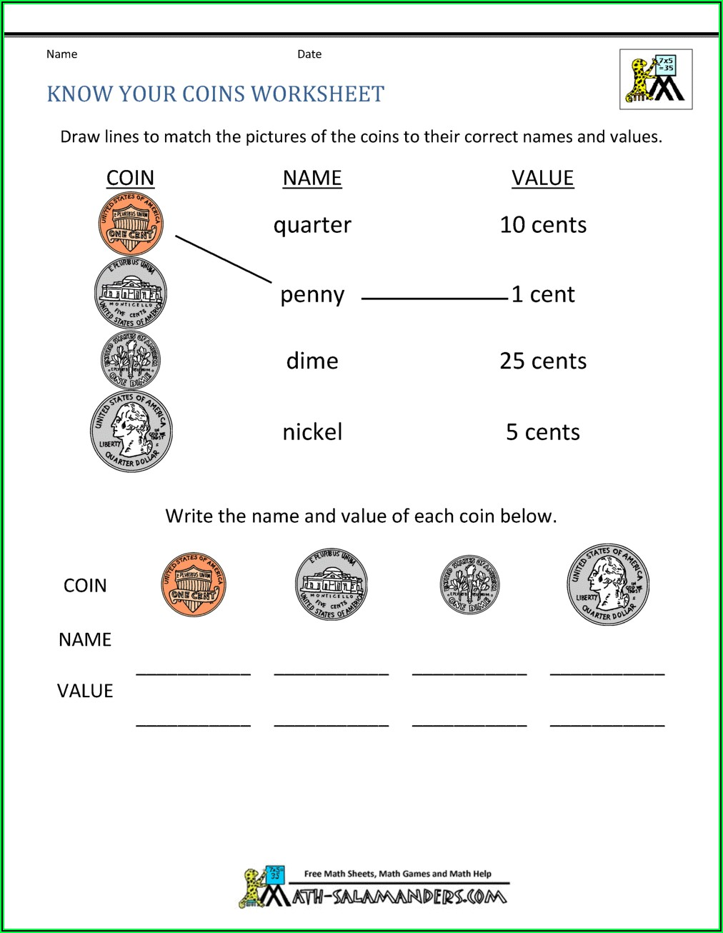First Grade Long A Worksheets