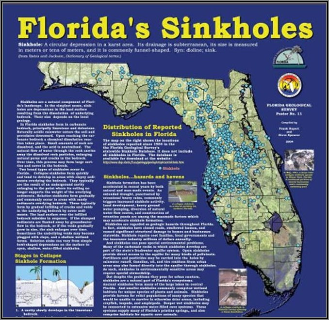 Florida Sinkhole Map By County