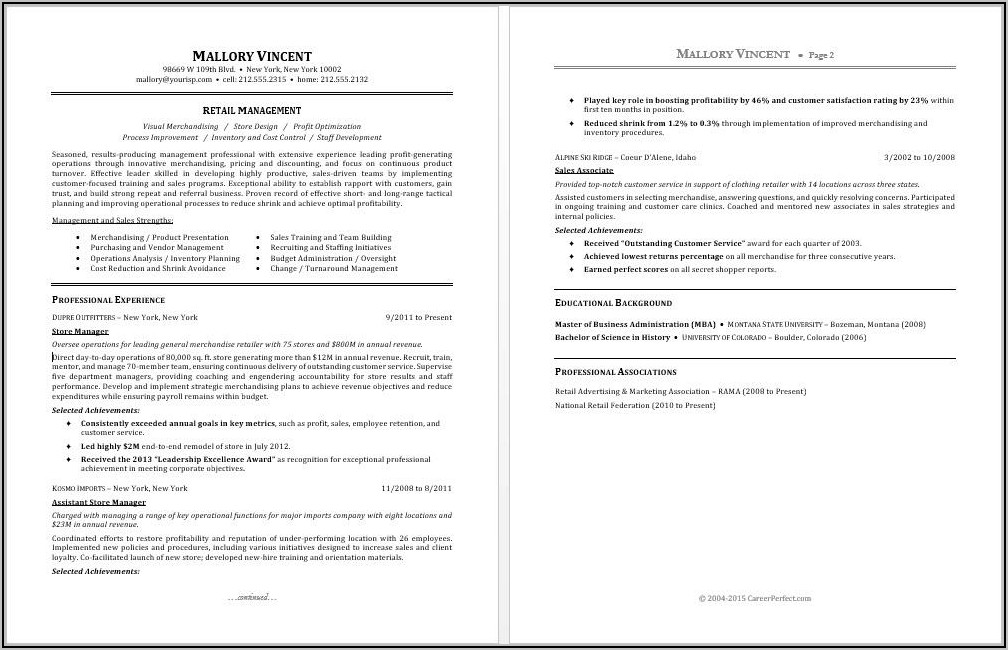 Free Functional Resume Template 2018