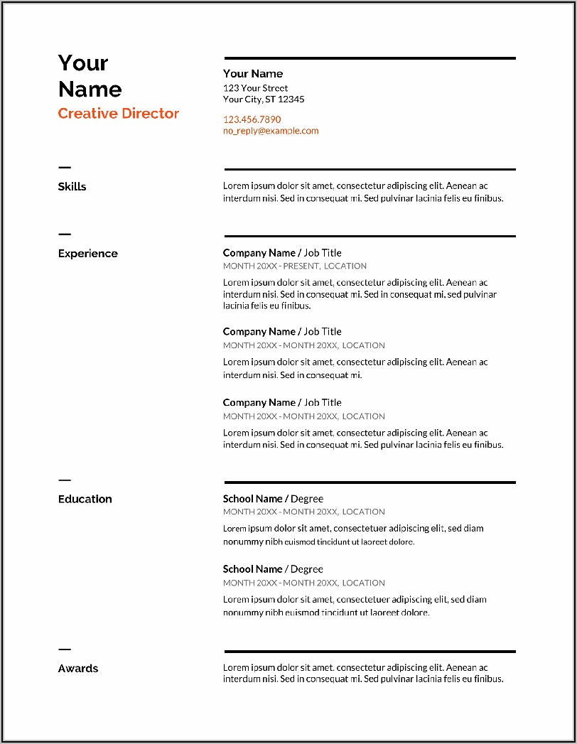 Free Functional Resume Template 2021