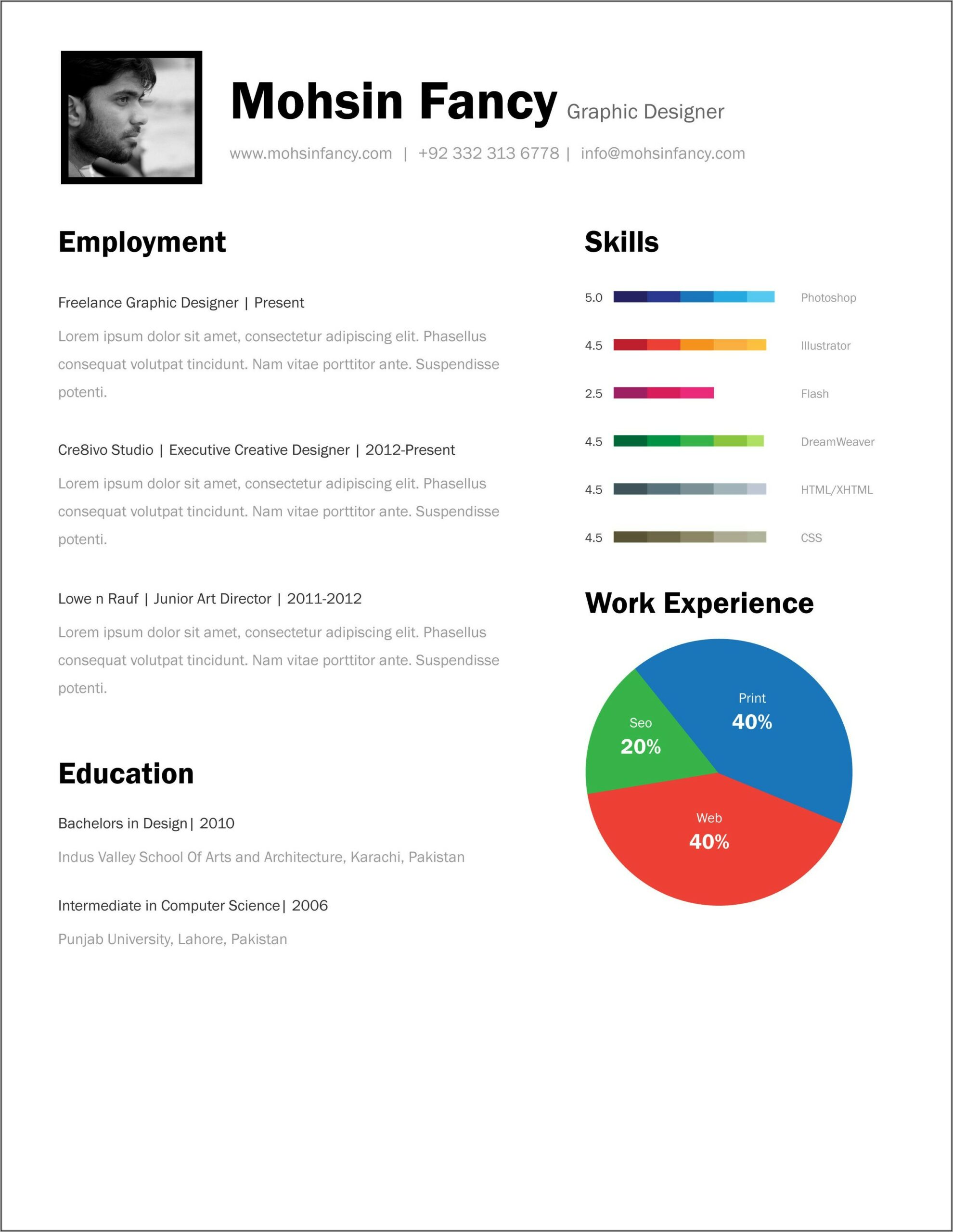 Free Functional Resume Template Download